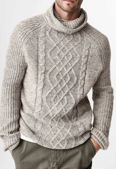 New Knitting Sweter Outfit Men IdeasYou can find Men sweater and more on our website.New Knitting Sweter Outfit Men Ideas Crochet Cardigan Pattern, Knit Cardigan, Mens Knit Sweater Pattern, Sweater Fashion, Men Sweater, Mens Sweater Outfits, Loose Sweater, Pullover Mode, Herren Outfit