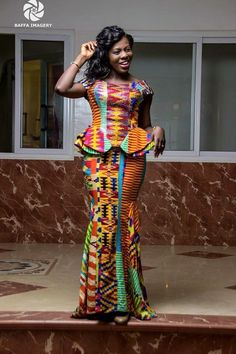 Dear Fashion Savvy Ladies, We are writing to let you know that kente has come to impress us with amazing designs. Kente is not as common as Ankara which makes it an appealing fabric. African Dresses For Women, African Print Dresses, African Attire, African Fashion Dresses, African Wear, African Women, African Prints, African Kids, African Clothes