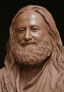 Guru Sri Sri Ravi Shankar is portrayed in this life size portrait clay bust. 3d Portrait, Male Portraits, Traditional Sculptures, Art Of Living, Wood Sculpture, Clay Art, Art Sketches, Human Faces, Wood Carvings