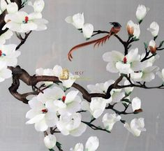 Chinese Embroidery:orchid,double-sided Screen Embroidery: Crafts Chinese Silk Wood  Other Subject   Steven Ma