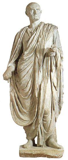 Statue of Cicero.  Marble. 1st century B.C. Oxford, Ashmolean Museum.