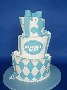 Whimsical Baby Boy Shower Cake