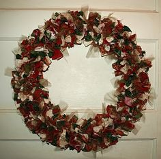 Christmas Rag Wreath  :)