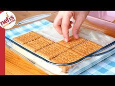 LEZZETİNE ÇOK ŞAŞIRACAKSINIZ 🍰🍋 DONDURMA TADINDA BİSKÜVİLİ PASTA - YouTube Turkish Recipes, Waffles, Deserts, Lunch Box, Food And Drink, Cooking Recipes, Bread, Breakfast, Sweet