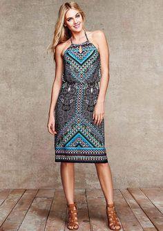 Raina Halter Midi Dress - View All Dresses - Dresses - Alloy Apparel