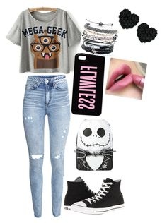 """""""geeks rule"""" by blueisthenewgrey on Polyvore featuring H&M, Converse, Domo Beads and Betsey Johnson"""