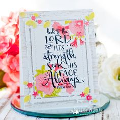Look To The Lord Card by Betsy Veldman for Papertrey Ink (November 2017)