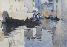 John Singer Sargent (1856 — 1925, USA) Sandali. watercolor on paper. 9 3/4 × 13 1/4 in. (24.8 × 33.7 cm.)