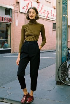 Made in the Caves Collect studio in Melbourne - Australia  The Alice Ciggie Pants are high waist, man-style tailored pants. They  feature a waistband, belt loops, cuffs, pockets and fly front  - Colour - Black  - 100% wool  - Available in sizes 6-12. *AU sizing - please refer to our size conversion  chart if you are outside of Australia  - Mia is 181cm and is wearing size 8  - Arrives in a Caves Collect drawstring bag  - We currently have a 7 day make time on the Alice Ciggie Pants  - FREE…