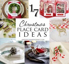 anderson + grant: 17 Ideas for Your Christmas Place Cards