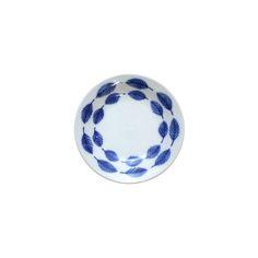미요 [일본접시 미요] 푸른 나뭇잎 그림 종지 미니 접시 10.1cm