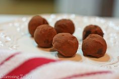 Double Chocolate Truffles with Cocoa Powder - delish!
