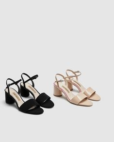 5e8d7b7a FAUX PATENT LEATHER BLOCK-HEEL SANDALS-View all-SHOES-WOMAN | ZARA