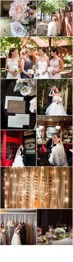 Philadelphia Wedding Florist - A Garden Party florist - the Olde Bar - Love Me Do photography - city wedding - blush wedding