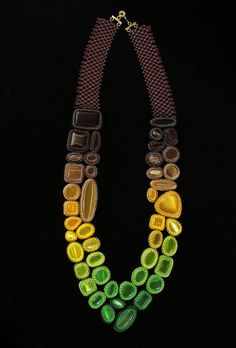 Fade Out Necklace, Brown to Green by TheVerdantEdge, via Flickr