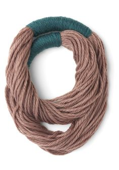 Strands to Reason Circle Scarf in Taupe. www.modcloth.com 19.99. Also comes in Teal. A unique take on the infinity scarf! Great price!