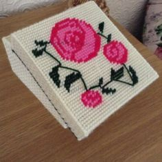 Macintosh rose from a cross stitch pattern