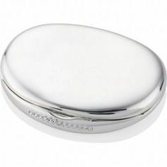 Oyster shaped silver plated Compact Mirror - 200179863  Presented in plain corporate packaging, this beautiful oyster shell shaped compact mirror with a line of diamonte's is the perfect gift for use as a presentation piece for golf clubs, awards evenings or as a magnificent wedding favor. There is ample space on the back for engraving a special message, initials or company logo.  #LovePromo #OutstandingLuxury #LuxuryBranding