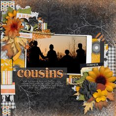 Why cant I scrap like this?  I try hut i just cant put this much on a page! cousins. - Scrapbook.com