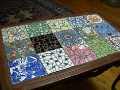 Sectioned Mosaic Coffee Table