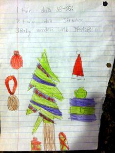 A #Christmas list by Hanni, 8 years old • Art My Kid Made #holidays #kidart
