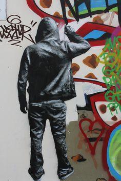 Nils Westergard Street Art (Hanbury Street, London, UK)
