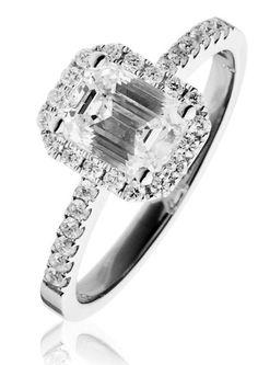 Diamond-Emerald-Cut-Engagement-Ring-1.25ct,-18k-White-Gold