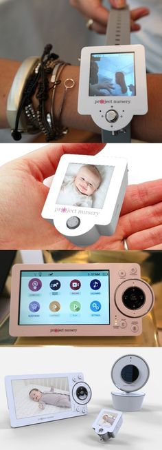 The $230 Project Nursery High Definition Baby Monitor lets you channel your inner Dick Tracy as you peek in on your child. The @projectnursery system comes with a Parent Audio Video Monitor (4.3-inch display) and a Mini Monitor (1.5-inch screen) you can wear. It uses encrypted 2.4 GHz wireless technology instead of less-secure Wi-Fi and has a range of up to 800 feet. The camera detects motion, has night vision and can be remotely panned, tilted and zoomed. CLICK THE PIC for more info.