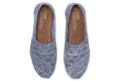 Denim colored Crochet Classics #TOMS