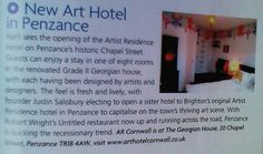Art hotel Cornwall magazine