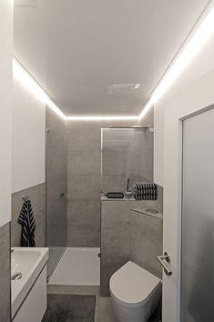 badezimmer modern einrichten abgehängte decke indirekte beleuchtung ...