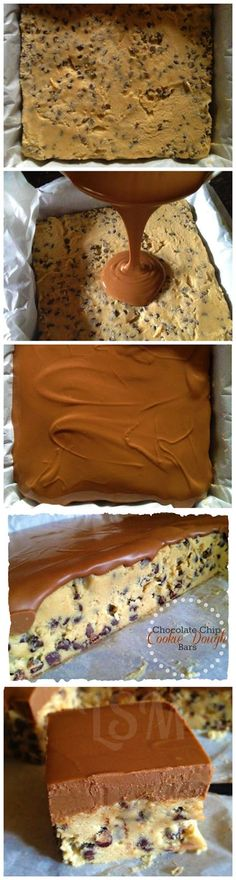 Chocolate Chip Cookie Dough Bars Recipe - would be great for class treats