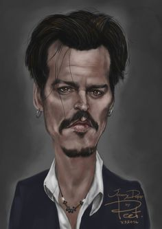 ArtStation - johnny depp, kritsada prapasai