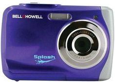 Bell+Howell - 12.0 Megapixel WP7 Splash Underwater Digital Camera (Purple)