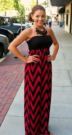 GameDay Strapless Maxi $42.50 - Great for Tailgating!!   105 West Boutique (Abbeville, SC)