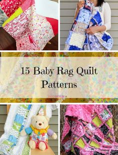 Learning how to make rag quilts is so easy when you check out all of our simple rag quilt patterns. You'll be amazed at the variety of our free rag quilt patterns. Hand Quilting Patterns, Quilting Blogs, Quilting Tutorials, Quilting Ideas, Sewing Patterns, Baby Rag Quilts, Patchwork Baby, Children's Quilts, Crazy Quilt Stitches