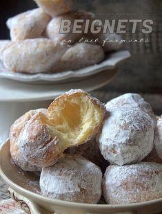 Beignet Polonais au Lait Fermenté hyper gourmands Paczki Beignets, Nutella, Tea Time, Hamburger, Bread, Food, Sweet Donut Recipe, Pastries, Cooking Recipes