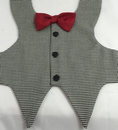 A Gentleman Wears Houndstooth Groom dog vest Bestman dog Dog Tuxedo, Tuxedo Vest, Gentlemen Wear, Dog Clothes Patterns, Dog Vest, Frack, Dog Wedding, Dog Pattern, Dog Costumes