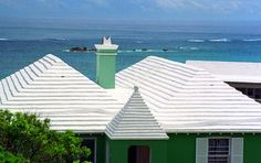 a typical Bermuda rooftop -they catch most of their water as runoff - stored in cisterns and pumped back into the home or business when needed. very green.