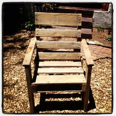Single seat pallet chair with arms http//:woodenpalletman.com