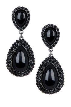 Black earrings Black dangle earrings Black by EldorTinaJewelry ...