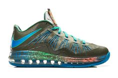 Nike Air Max LeBron X Low: Tarp Green/Neo Turquoise/Poison Green