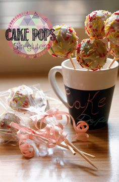 lollipop corn: Cakepops  doble chocolate sin gluten Macarons, Chocolate Sin Gluten, Cupcakes, Cake Pops, Mugs, Tableware, Tarts, Deserts, Recipes