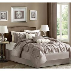 Madison Park Vivian Polyester Solid Tufted 7-piece Comforter Set | Overstock™ Shopping - Great Deals on Madison Park Comforter Sets