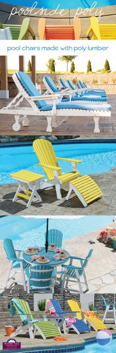 Poolside Poly Furniture. Pin Now, Dream Later.