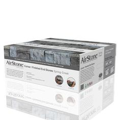 AirStone is an ultra-light recycled material that provides the beauty, texture and durability of real stone without the need for professional installers or specialized tools. Decorating Blogs, Interior Decorating, Faux Stone Veneer, Airstone, Exterior Siding, Home Improvement, Decorative Boxes, Spring, Lowes