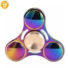 Kirinstores (TM) Fidget Spinner Regenbogen Dreieck Finger Spinner Bunte Hand Fidget Spinner - Regenbogen - Fidget spinner (*Partner-Link)