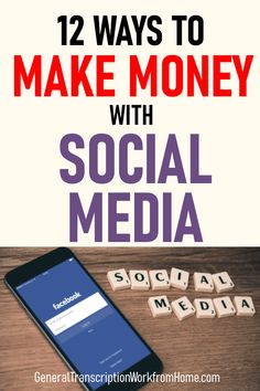12 Brilliant Ways to Make Money with Social Media – Work from Home Jobs, Online Jobs & Side Hustles – Make Money Online for Beginners – How to be an Online Millionaire Earn Money Online, Make Money Blogging, Online Jobs, Way To Make Money, Money Fast, Earning Money, Music Online, Quick Money, Apps