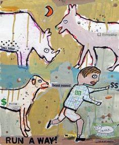 """Saatchi Art Artist Brian McDonald; Painting, """"Run Away"""" #art"""