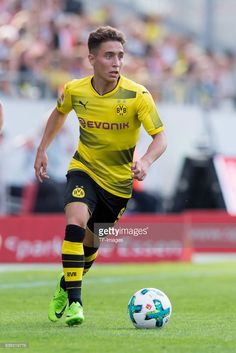 Emre Mor of Dortmund controls the ball during the preseason friendly match between Rot-Weiss Essen and Borussia Dortmund at Stadion Essen on July 11, 2017 in Essen, Germany.